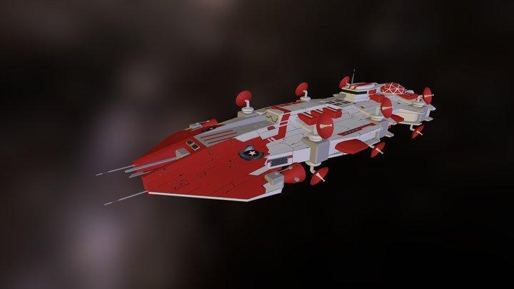 Seeker Class VIII Support Vessel 3D Model