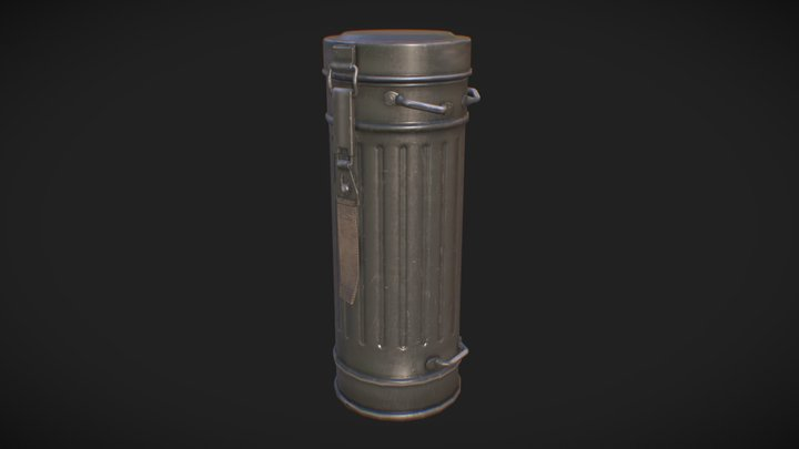 ww2 gasmask container 3D Model