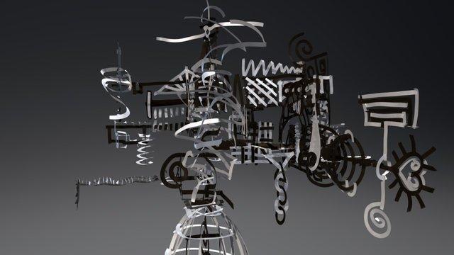 Abstract Black & White 3D Model