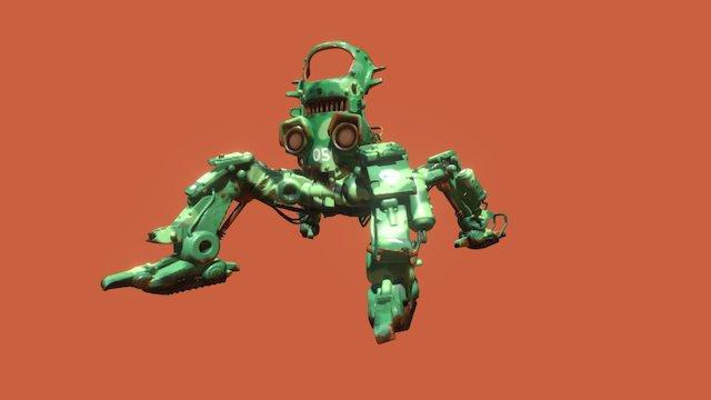 Quad Bot 3D Model