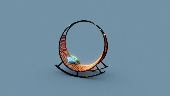 Garden Swing Chair 3D Model 3D Model