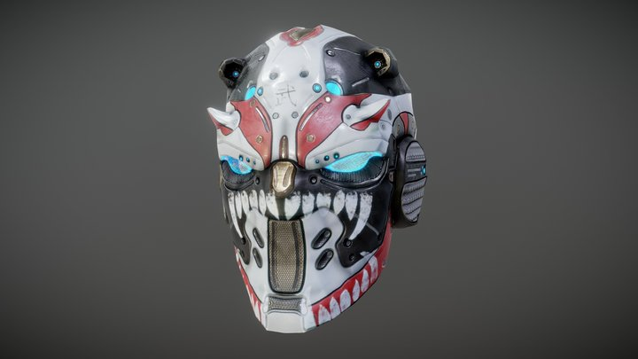Hard Surface Helmet 3D Model