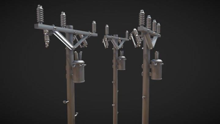 More Power Pole Revisions - 1/48 Scale