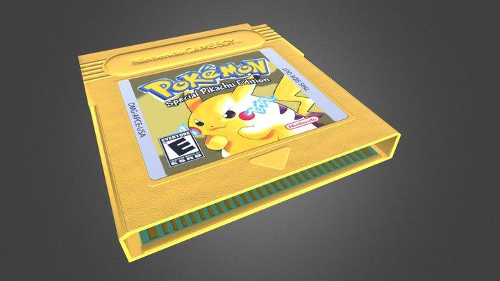 Pokemon Yellow Version - Game Boy Cartridge 3D Model