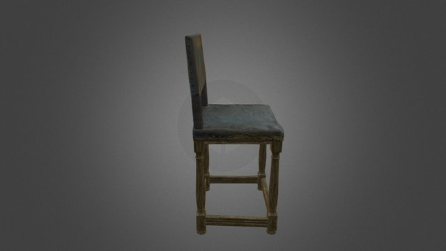 Upholstered chair from mid-1600s 3D Model
