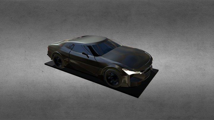 2018 American muscle car 3D Model