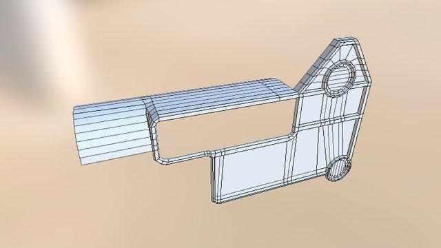 Kel tec sub 2000 gen 2 receiver part 3D Model