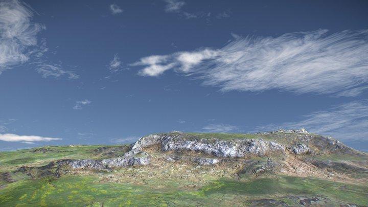 Cinematic Highlands Landscape 3D Model