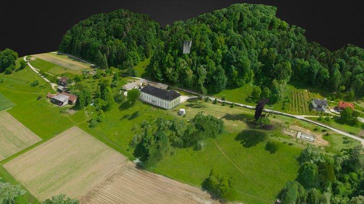 Dvorec Bukovje. Dravograd. Koroska. Slovenija 3D Model