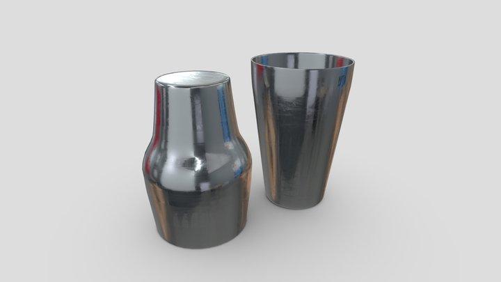 Cocktail Shaker Open 2 3D Model