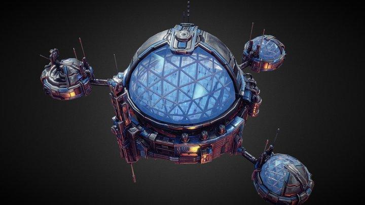 Starfall Tactics — Science station 3D Model