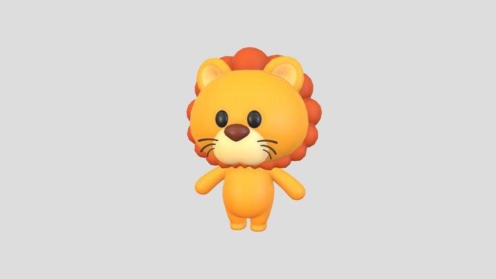 Character009 Lion 3D Model