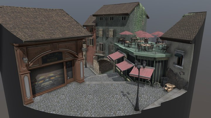 Cityscene Annecy 3D Model