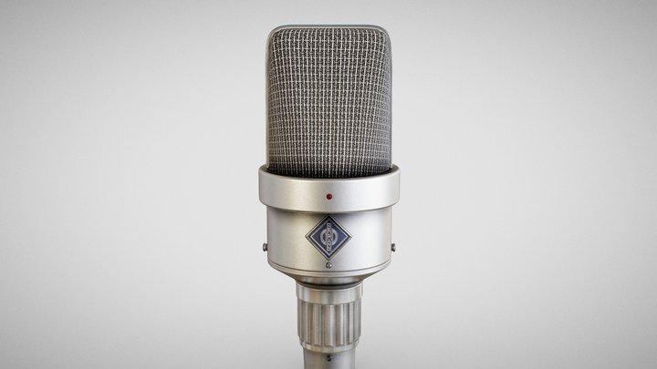 Microphone - Neumann M49 3D Model