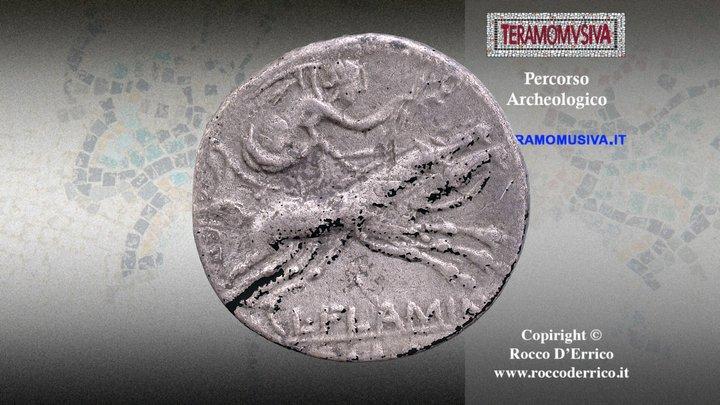 Denario Repubblicano, L. Flaminius Chilo 3D Model