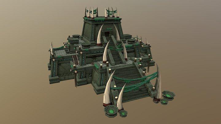 Troll Temple 3D Model