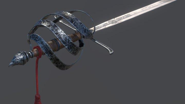 Celtic Rapier 3D Model