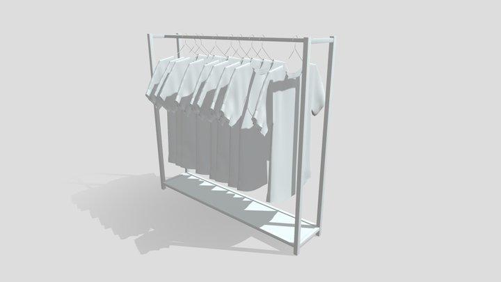 unisex woman women man men tshirt shirt rack 3D Model