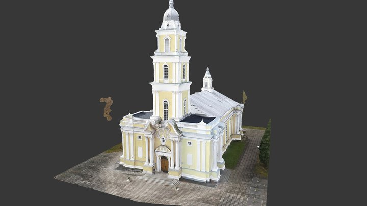 Cathedral of Christ the King in Panevėžys 3D Model