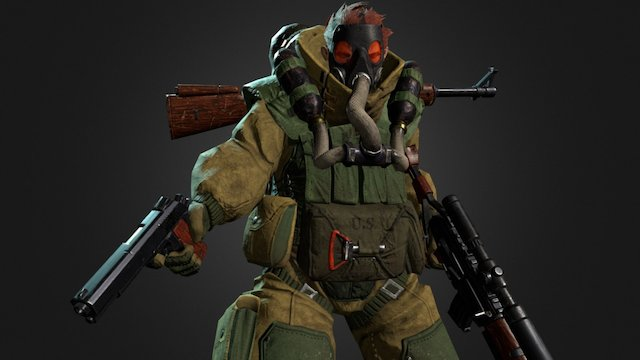 Soldier from the Asylum 3D Model