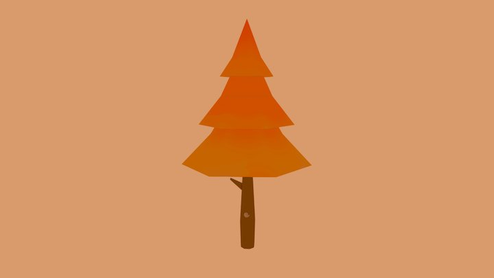 Handpainted tree [ autumn ] [ low-poly ] 3D Model