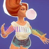 just a girl 3D Model