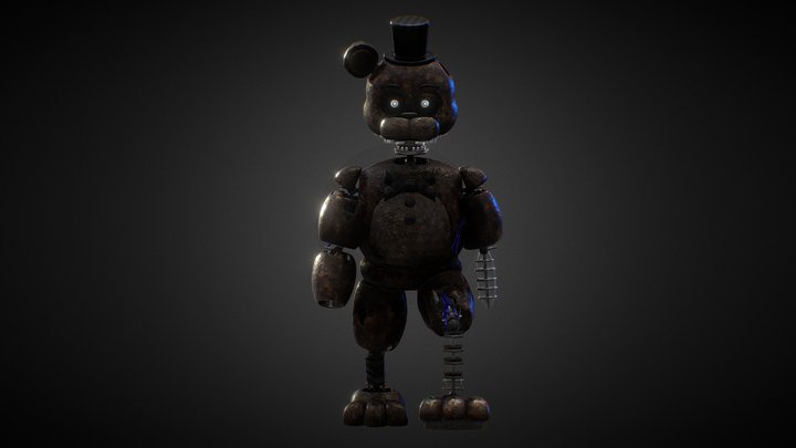 Ignited Freddy Walking Animation Cycle OUTDATED 3D Model