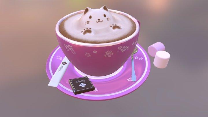 Catppuccino 3D Model