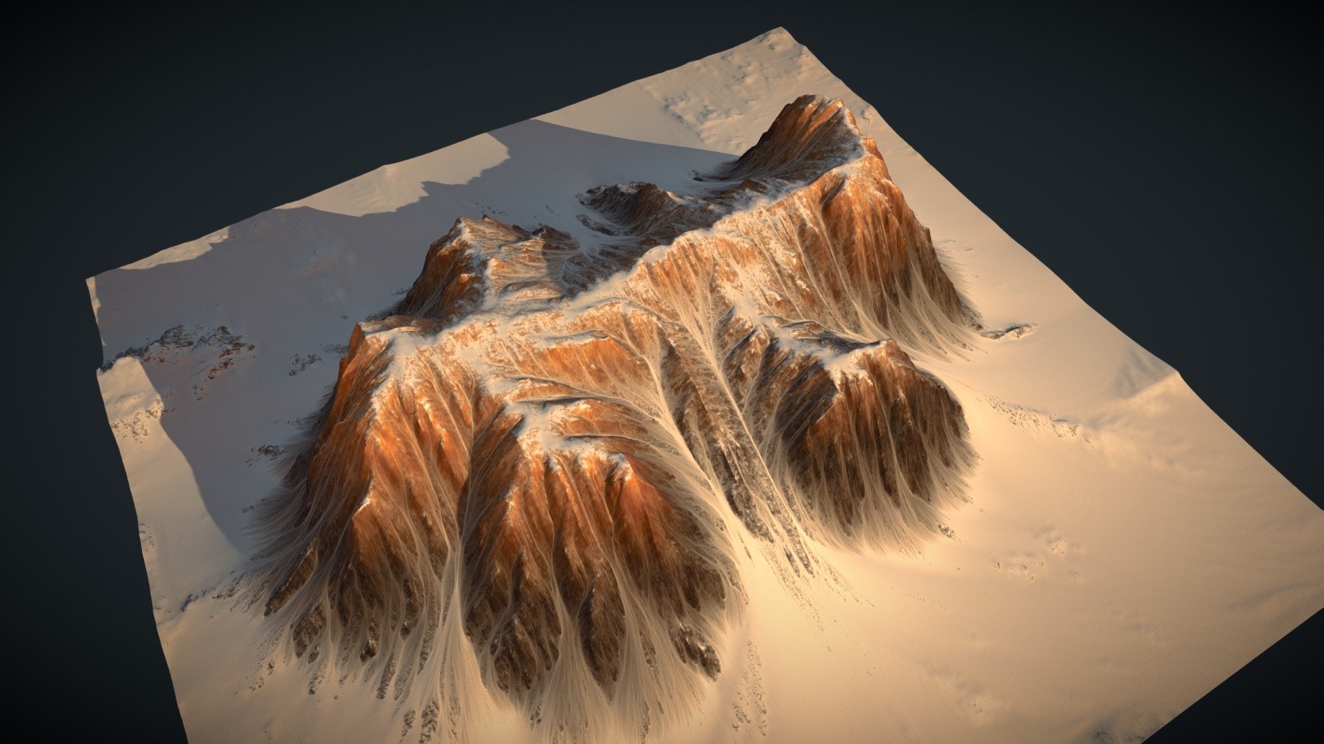 Worldmachine Terrain Download Free 3d Model By Hannes