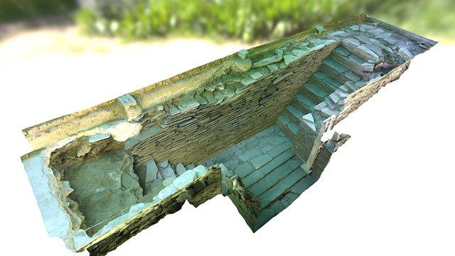 Escaleras Muralla de Lugo 3D Model