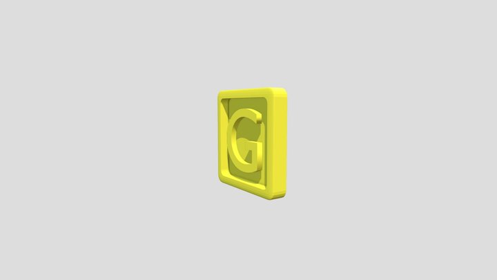 Donkey Kong Country 2 and 3 - Letter G 3D Model