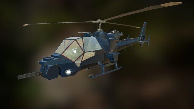 Blue Thunder 3D Model