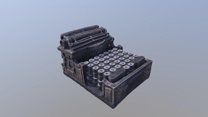 Typewriter Coaster Holder 3D Model