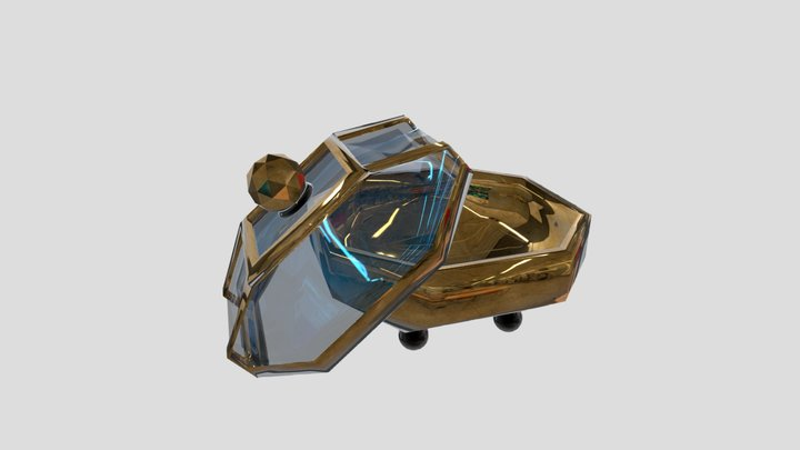 Golden Glassy Candy Box 3D Model