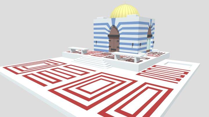 Jeffrey Epstein Little St James Temple 3D Model