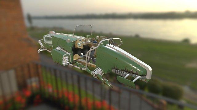 Dieselpunk car 3D Model