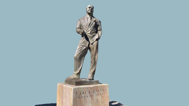 """T. Jack Foster"" Statue - 3D Scan 3D Model"