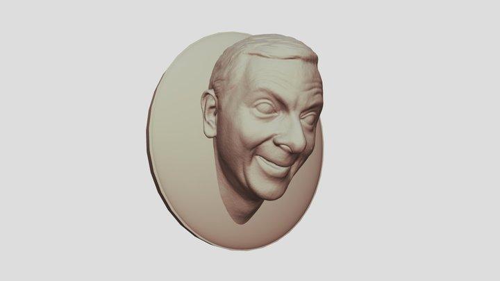 Fridge Magnet Mr Bean Head 3D Model
