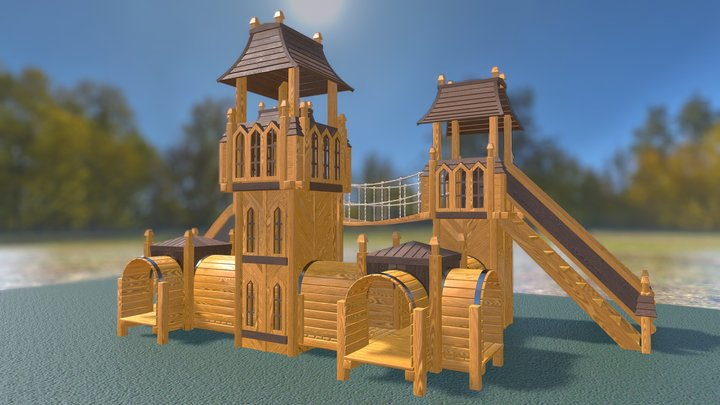 """2401 детская площадка """"Лемюэль"""" 3D Model"""