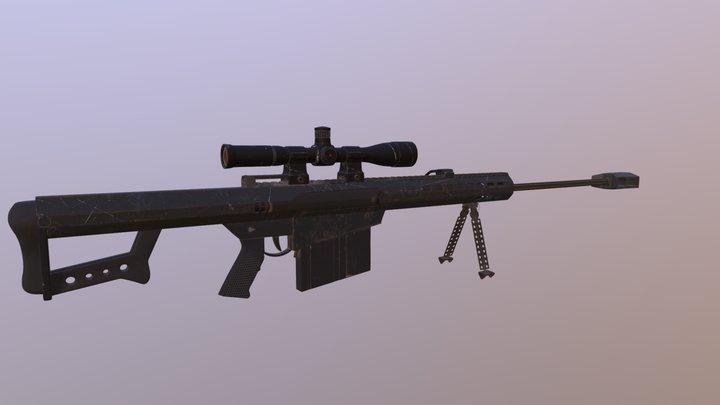 Barrett M82 3D Model