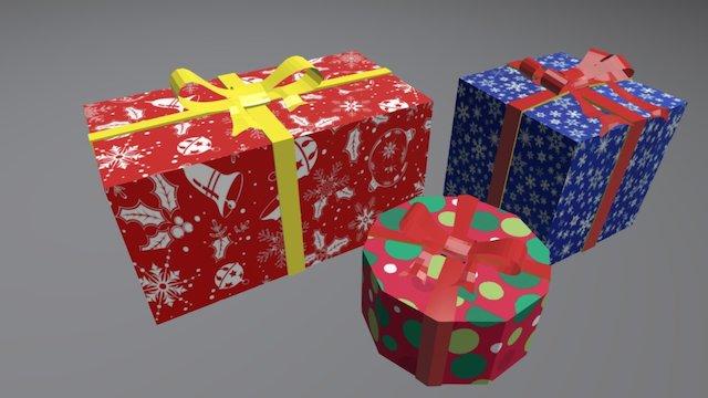AS Xmas Gift 3D Model