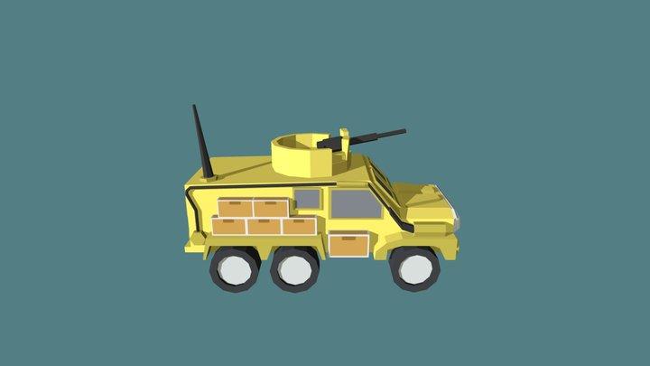 Military Car 3D Model