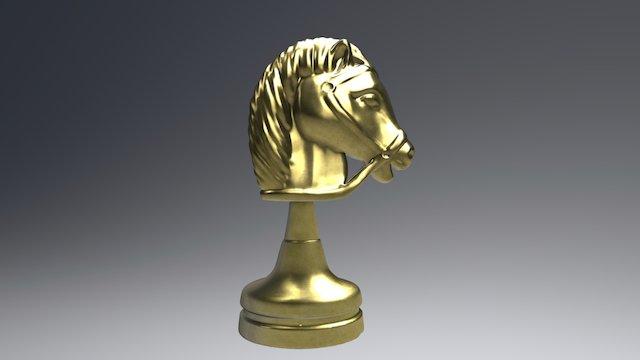 Metal Knight (chess) 3D Model