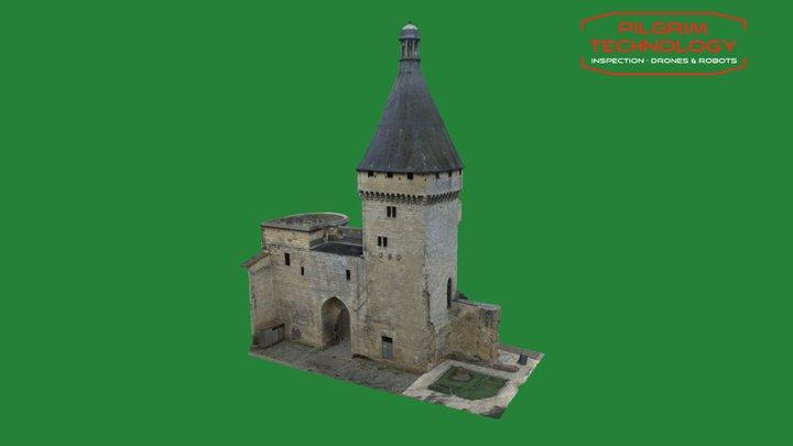 Tour du port à Libourne 3D Model