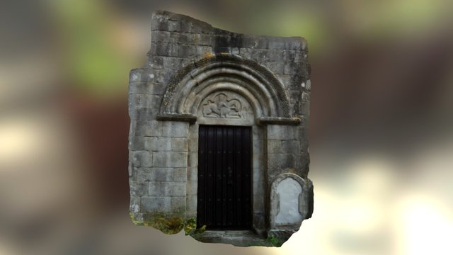 Pórtico do mosteiro de Taboada dos Freires 3D Model