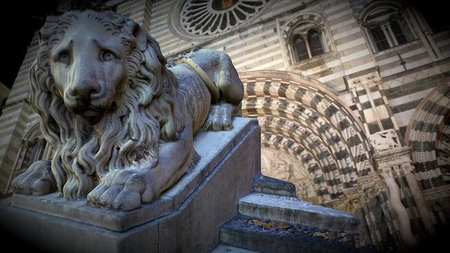 Sad Lion of Genoa Cathedral 3D Model