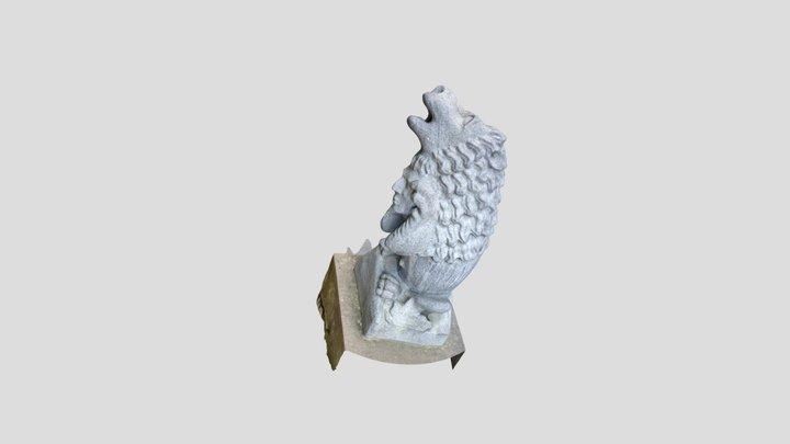 Wasserspeier Löwenmensch, Skulptur 3D Model