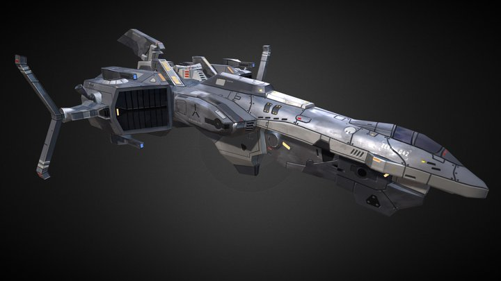 Star Conflict - Spaceship 3D Model