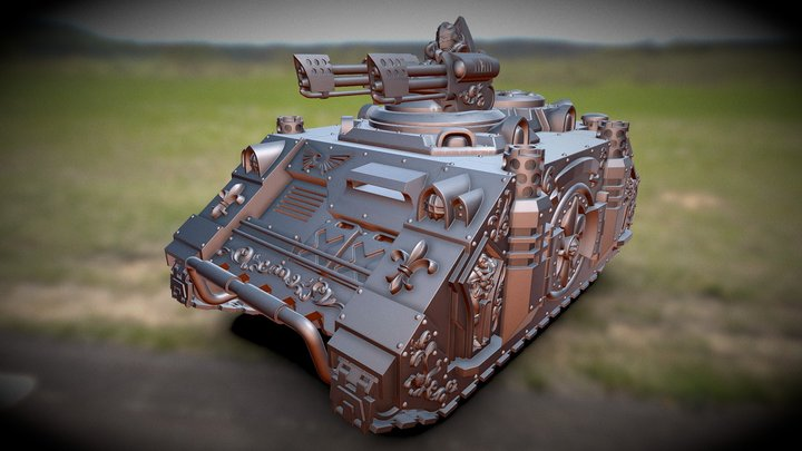 Spacenun Flamer Tank 3D Model