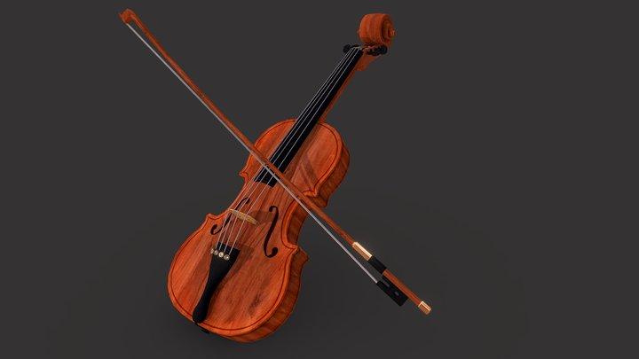 Violin - Game Asset 3D Model